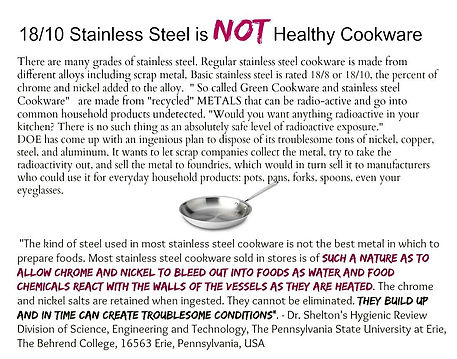 What Is Stainless Steel Made Of >> Hidden Dangers The Conscious Cook